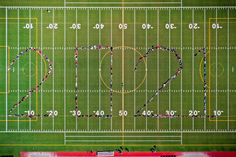 BHS Field with 2021 Class of 2021 students