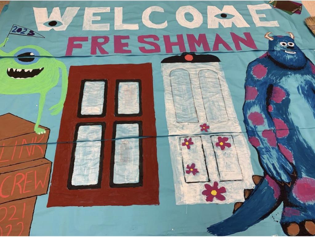 Welcome Freshman Drawing with Door