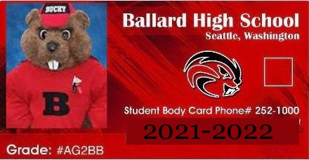 Student ID card with Beaver and school info