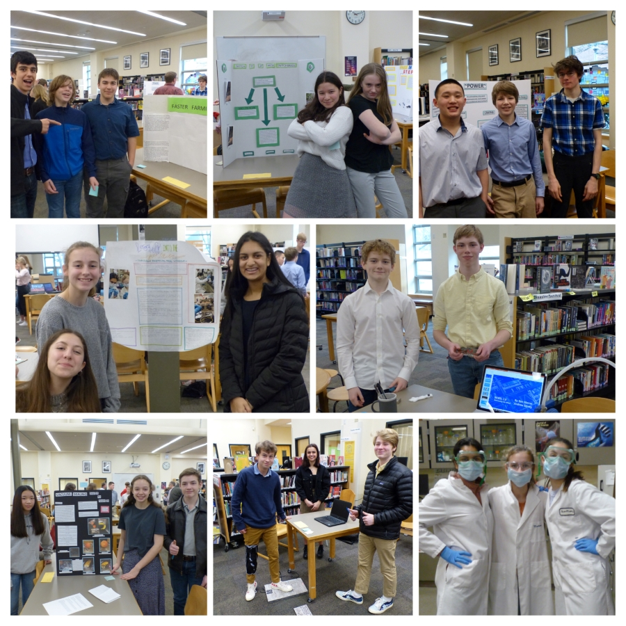 Photo Grid of Biotech students in classrooms