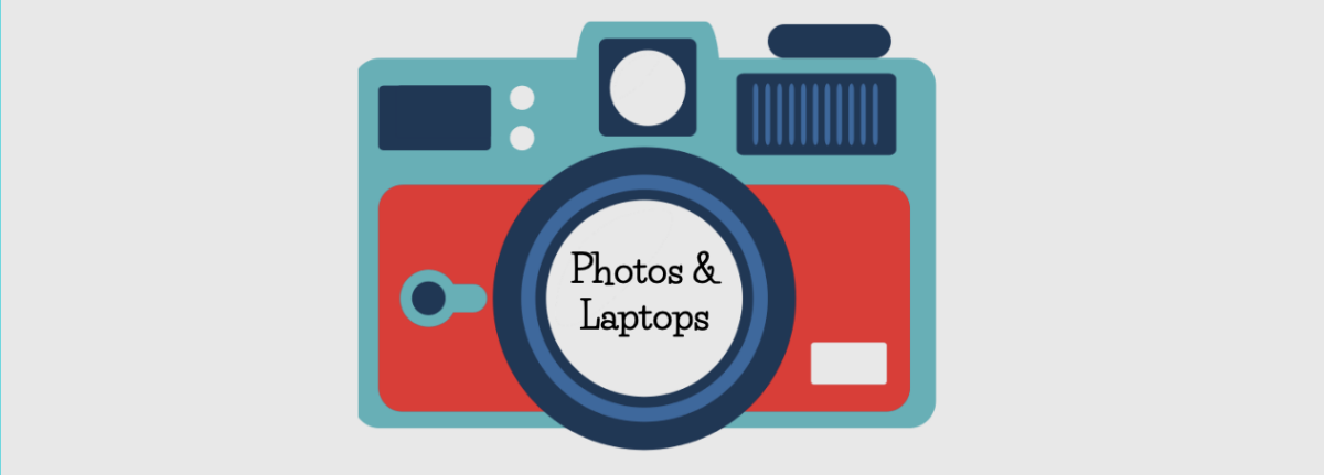 Camera photo and laptop day
