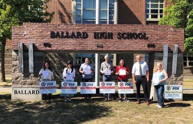 PTSA Award Winners outside BHS School building