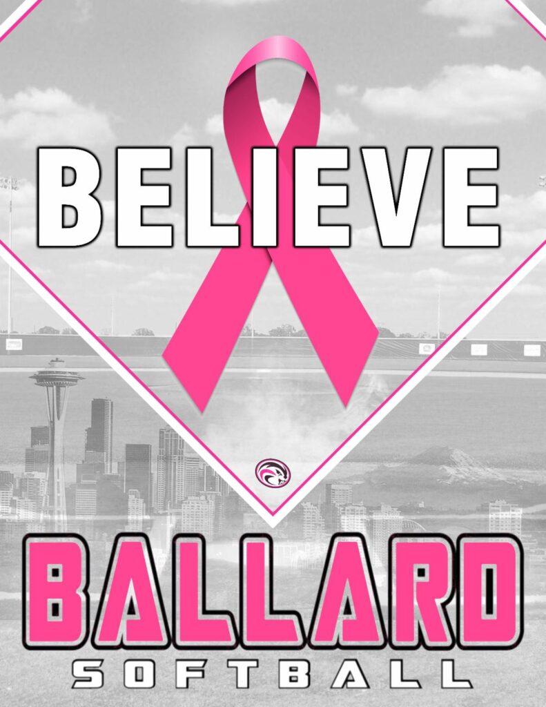 Believe Ballard with Breast cancer logo