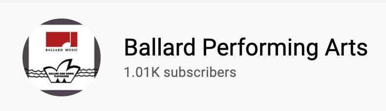 Ballard Performing Arts YouTube Logo
