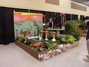 Plant display at show