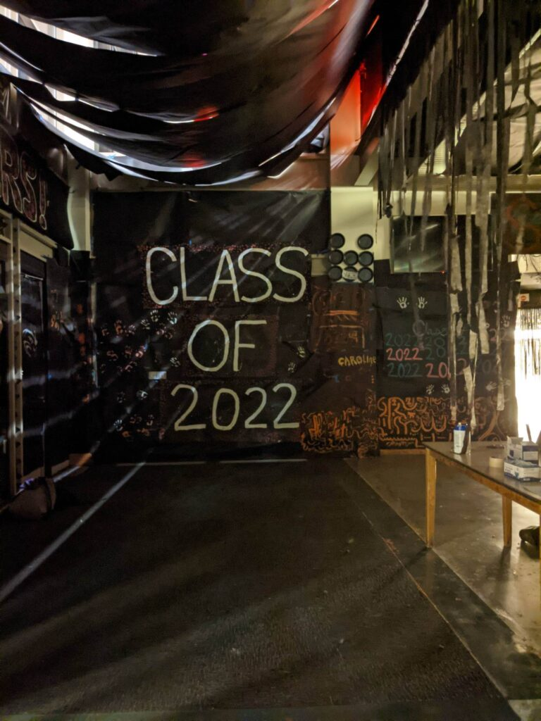 Class of 2022 Hallway Decorated